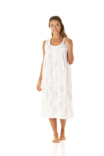Femmes sans manches florallight S//XXL*24347 Mélange Coton Jersey Chemise De Nuit Lune