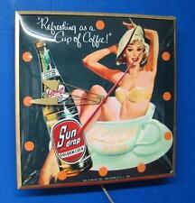 Vintage Pam SUN DROP GOLDEN COLA Lighted Advertizing Clock