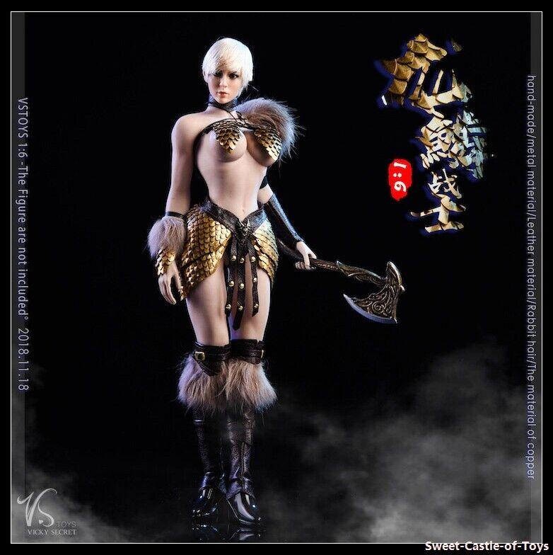 1 6 VStoys Action Figure Accessory - 18XG32-B Female Dragon Scale Warrior Set
