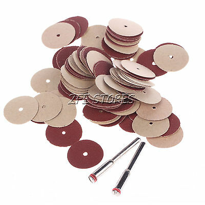 100Pcs 20mm Sanding DIsc Pad For Dremel & Foredom Rotary tools --3mm Shank