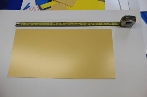 "STYRENE POLYSTYRENE PLASTIC SHEET .060/"" THICK 12/"" X 24/""  GLOSSY TAN COLOR"