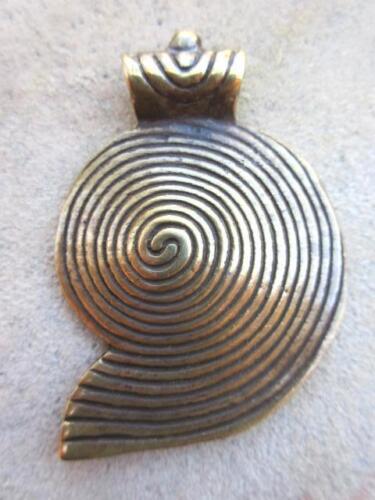 68466 Large Brass Pendant