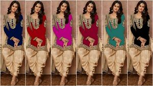 d3ad2acbf2 Image is loading Designer-Party-Wear-Salwar-Kameez-New-Patiala-Suit-