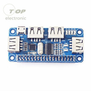 4-Port-USB-HUB-HAT-Expansion-Board-for-Raspberry-Pi-3-Model-B-Zero-V1-3-Zero-W