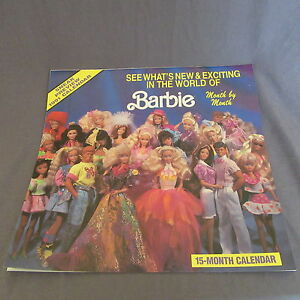 780B-Mattel-Calendario-1991-Barbie-32-paginas-30-X-30-CM