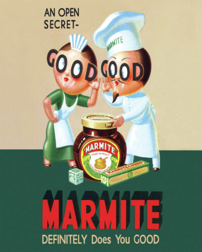 Marmite VINTAGE ADVERTISING ENAMEL METAL TIN SIGN WALL PLAQUE
