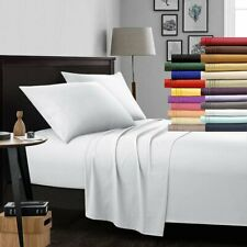 Egyptian Comfort 1800 Count 4 Piece Deep Pocket Bed Sheet Set Wrinkle Free USA