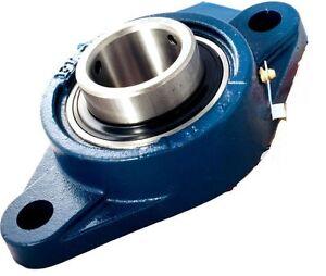 UCFL210-50mm-Metrico-2-Bolt-Ovale-Flangia-Auto-Lube-Alloggiamento-Bearings-Ucfl