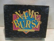 Name Burst The Memory Jogging Name Calling 1992 Who's Who Board Game gm116
