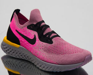 Details zu Nike Damen Epic Reagieren Flyknit Laufschuhe Schwarz Gold Neu Sneakers