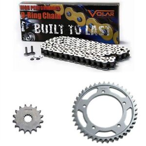 Volar O-Ring Chain and Sprocket Kit Black for 2005-2006 Triumph Tiger 955