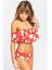 Women/'s High Waist Bikini Off Shoulder Push Up Bikini Set Swim Wear Swimsuit New