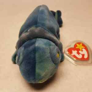 Ty Beanie Babies Rainbow the Iguana RETIRED 1997 with Tags Plush Toy Collectible