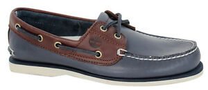 Mens Lace 2 Shoe Eye Timberland Navy Leather Brown Boat Up Blue ZF16q10