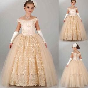 168953a6d0bff D Fille Princesse Communion Mariage Neuf Demoiselle Robe De qwBCCZ0