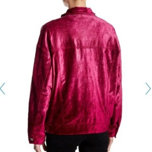 Details about  /$168 NEW Free People 'Velvet Trucker Jacket' In Pink Size XS//S~NWT