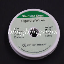 1 Roll Dental Orthodontic Ligature Wires Stainless Steel Line 50g 02mm
