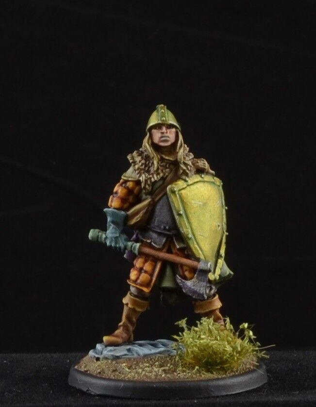 Conector Macho Macho Guerrero con hacha de batalla pintado y escudo Dark Sword Miniatures, D&D  más vendido
