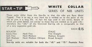"""Enthousiaste New Osmiroid 65 75 R.m.t. Rmt Fountain Pen Star-tip """"flo"""" Screw In Nib #2"""