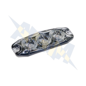 Red LED Autolamps LPR103DVR Low Profile 3-LED Warning Lamp 12//24V
