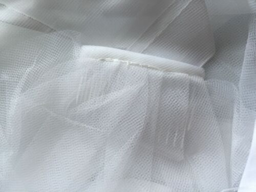 Women White with Trim Bride Wedding Veil WITH COMB head hair Accessory PROP