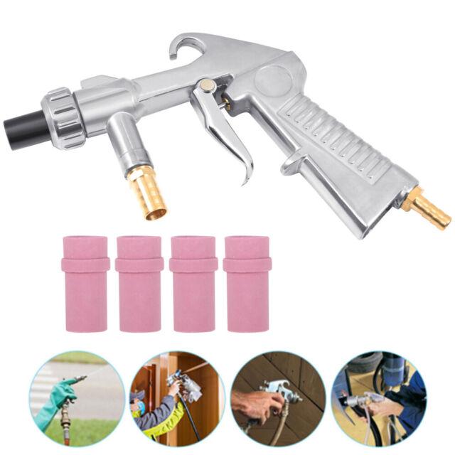 Air Sand Blaster Kit Abrasive Sand Sandblasting Gun w/Air Siphon Feed Nozzle Tip