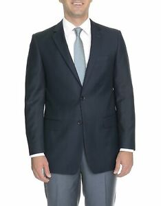 Mens 48L Mens Prontomoda Classic Fit Gray Houndstooth Two Button Wool Blazer ...