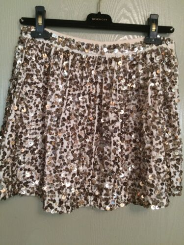 paillettes Xs oro Anthropologie luccicanti Eccellente Small Tavin Gonna 4wOqxg4X