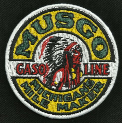 VINTAGE STYLE MUSGO GASOLINE MILE MAKER HOT ROD ROCKABILLY GREASER BIKER PATCH