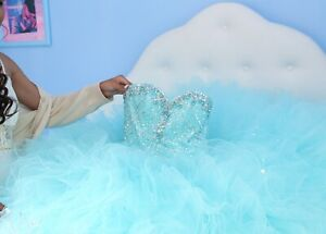 blue quinceanera dress size small