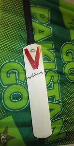 Misbah-ul-Haq-Pakistan-signed-Slazenger-Mini-Bat-COA-amp-Photo-Proof