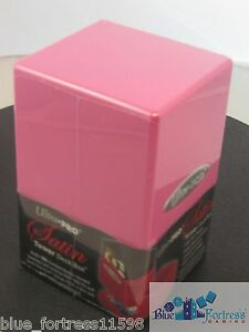 ULTRA-PRO-PINK-SATIN-TOWER-DECK-BOX-COMPARTMENT-FOR-DICE-MTG-CARDFIGHT-POKEMON