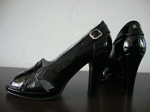 Schwarz Pumps Belstaff Schuhe Lady Shoes Leder 36 Damen Gr Neu Lack AAH0Uqw