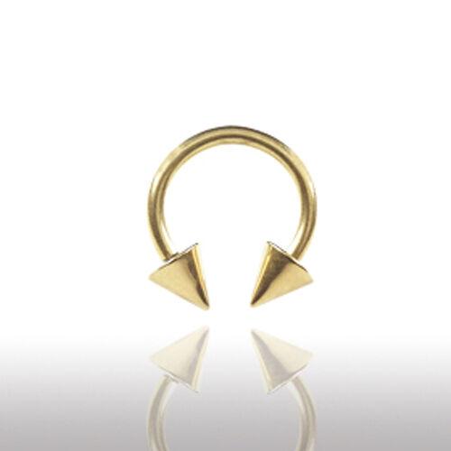 1,6mm oro herradura anillo con encajes pecho labios oreja Helix piercing