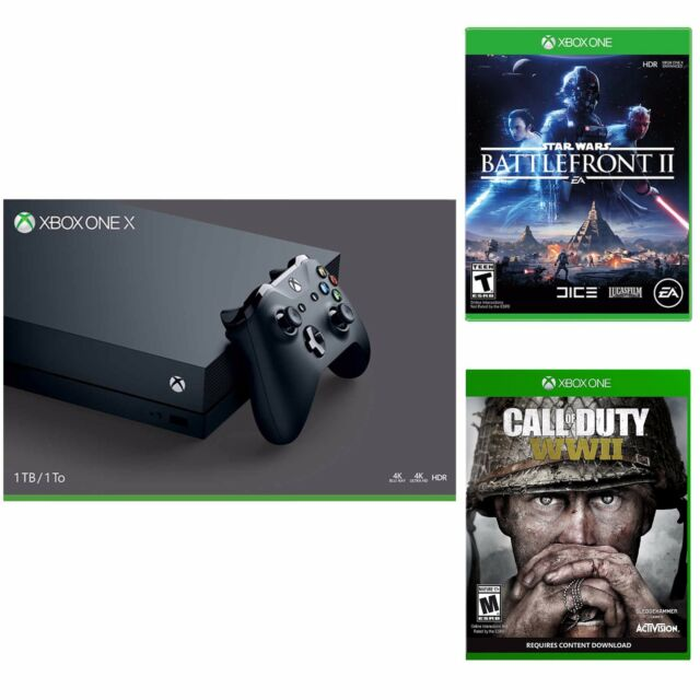 Xbox One X 1TB Console+ Call of Duty World War 2 + Star Wars Battlefront 2