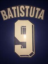 Fiorentina kit Batistuta flock bianco Nameset maglia calcio fila
