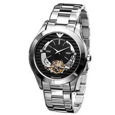 NEW Armani Meccanico Black Skeleton Dial Men's Watch AR4642