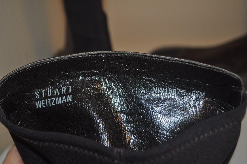 Nouveau    650+ STUART WEITZMAN marron demi-N demi cuir bottes hautes sz 6.5 M dd72ab