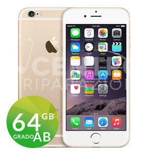 APPLE-IPHONE-6-64GB-GOLD-ORO-GRADO-AB-ORIGINALE-RIGENERATO-RICONDIZIONATO