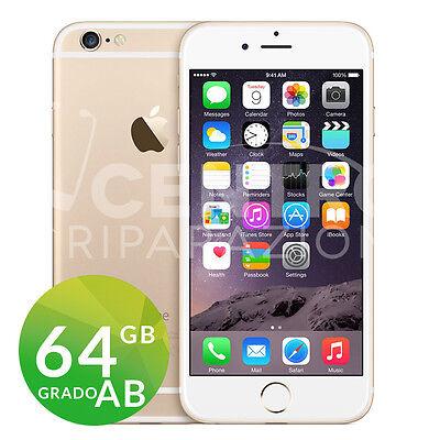 APPLE IPHONE 6 64GB GOLD ORO GRADO AB ORIGINALE RIGENERATO RICONDIZIONATO