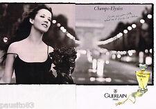 PUBLICITE ADVERTISING 055  1998  GUERLAIN  parfum CHAMPS -ELYSEES ( 2p) S. MARCE