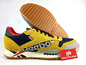 25a981eb Image is loading NEW-Reebok-Classic-Leather-Ripple-DV7194-Toxic-Yellow-