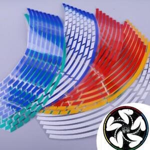 Llanta-de-Rueda-Coche-Moto-16Pcs-16-tiras-de-cinta-banda-reflectante-Calcomania-Adhesivo-MZ