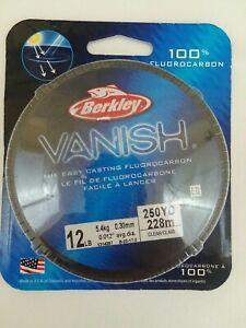 Berkley Vanish Fluoro Fishing Line Pony Spool 110 yd 8 lb Test Clear 1010822