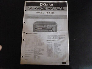 Liefern Clarion Original Service Manual F Pe 760 A Tv, Video & Audio