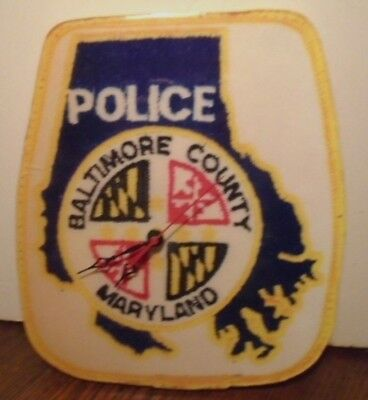 Rare Baltimore County Police Maryland Handcrafted Solid Wood Wall Clock Ebay