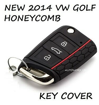 VW Volkswagen Golf MK7 Honeycomb Car 2014 2015 Key Case Protection Cover Black