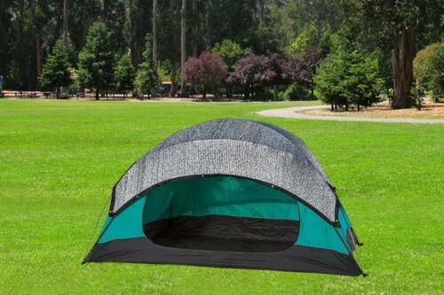 7x14ft 70/%-89/% Aluminet Shade Cloth Reflective Sunblock Shade for Car Dog Kennel