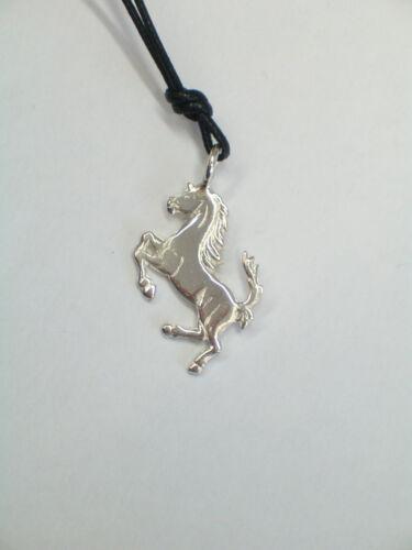 Cavallino Rampante CIONDOLO in Argento 925 pendente con girocollo
