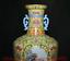 """miniature 2 - 11,6 """"Qianlong Marqué Old China Couleur Porcelaine Fleur Oiseaux Bouteille Vase"""